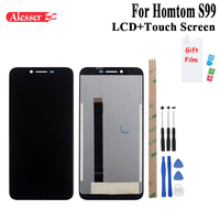 Alesser For Homtom S99 LCD Display and Touch Screen 5.5 Assembly Repair Parts With Tools And Adhesive For Homtom S99 Phone
