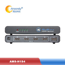 4k 1 to 4 HD Splitter with HDMI interface 3D effect support stack cascading compare dtech DT-7144 for giant LED panel screen