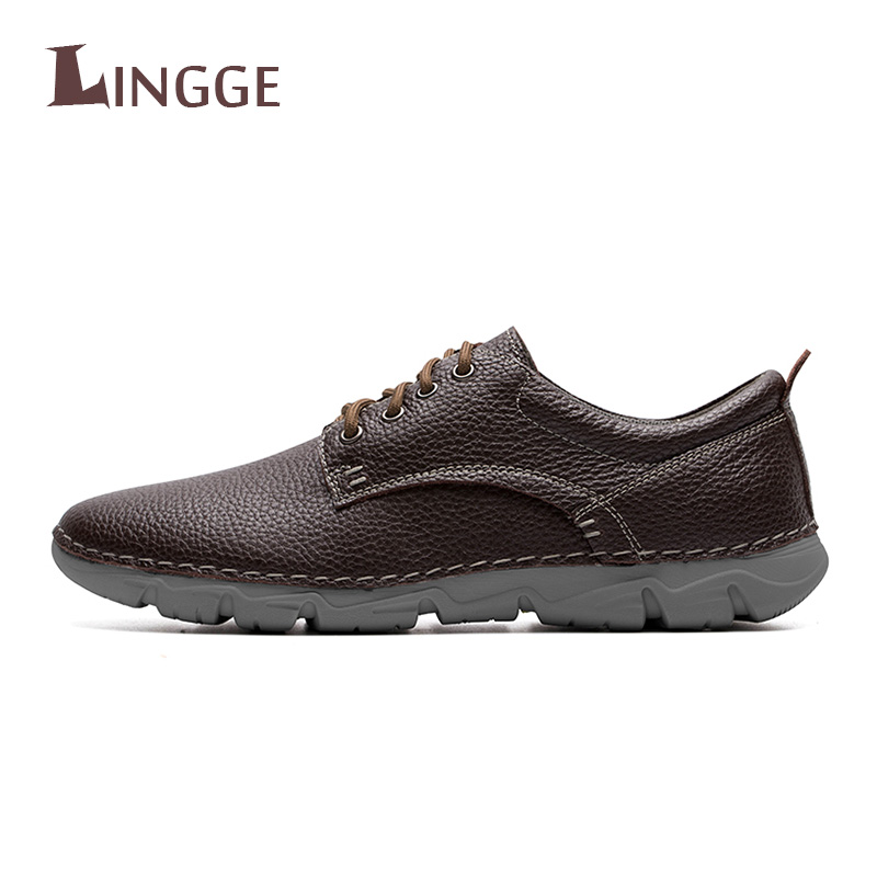 New High Quality Handmade Genuine Leather Men Shoes New 2018 Autumn Fashion Men Casual Footwear Comfortable Basic Shoes For MenNew High Quality Handmade Genuine Leather Men Shoes New 2018 Autumn Fashion Men Casual Footwear Comfortable Basic Shoes For Men