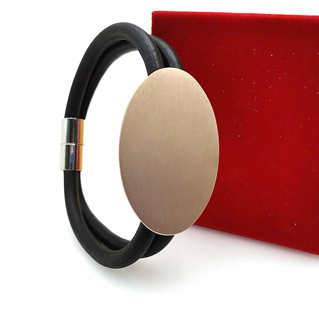 YD i YDBZ 2019 nowy urok bransoletka szara lina gumowa ręcznie łańcuch kobiety bransoletki biżuteria 6 stylów różowe złoto i srebro bransoletka do zegarka