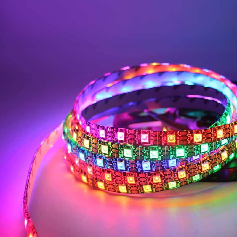 5V 1M Led قطاع ضوء 5050 RGB WS2812 2812B 30 المصابيح 60 المصابيح للماء IP30 IP65 الملونة الشريط مصباح للديكور المنزل ضوء 10 مللي متر