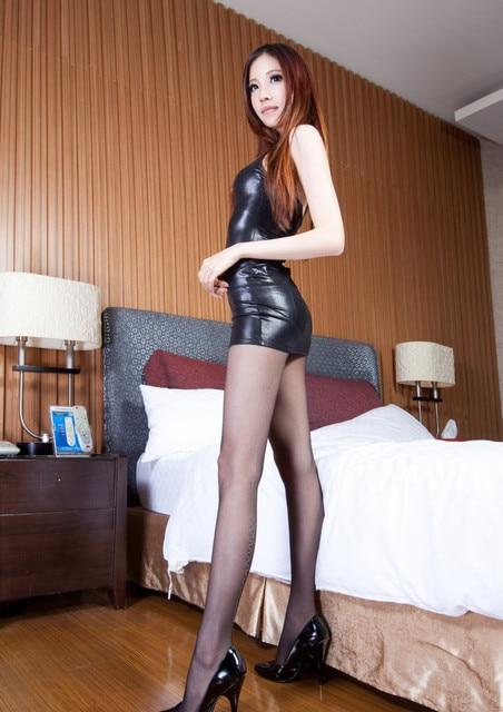 Black Fetish Sexy Leather Mini Dress Nightwear Catsuit Stripper Pole Dancing