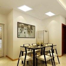 T-SUNRISE LED Panel Light Recessed Lights 12W Recessed Ceiling Panel Square Ultra Slim Flat Panel Down Light for Home Lighting