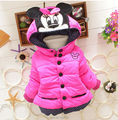 Casaco 2014 novo Design de alta qualidade meninas Minnie casacos de inverno quente casaco Outerwear para crianças frete grátis