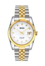BOSS Germany watches men luxury brand dayjust genuine watch 21 jewels MIYOTA JAPAN automatic mechanical white relogio masculino