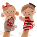 Candice guo! Seashells super cute plush toy navy suit girl & boy placate hand puppet baby birthday gift 1pc