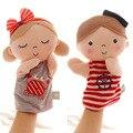 Candice guo! conchas super bonito brinquedo de pelúcia marinha terno girl & boy aplacar fantoche de mão do bebê presente de aniversário 1 pc
