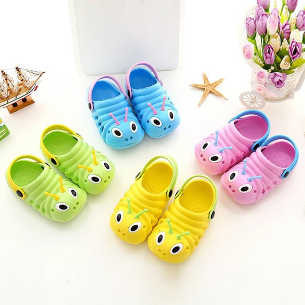 Fashion CuteKids Caterpillar Garden Slippers Child Boys Girls Slip Lighe Weight Beach Hole Sandals Baby Candy Home Outdoor Shoes