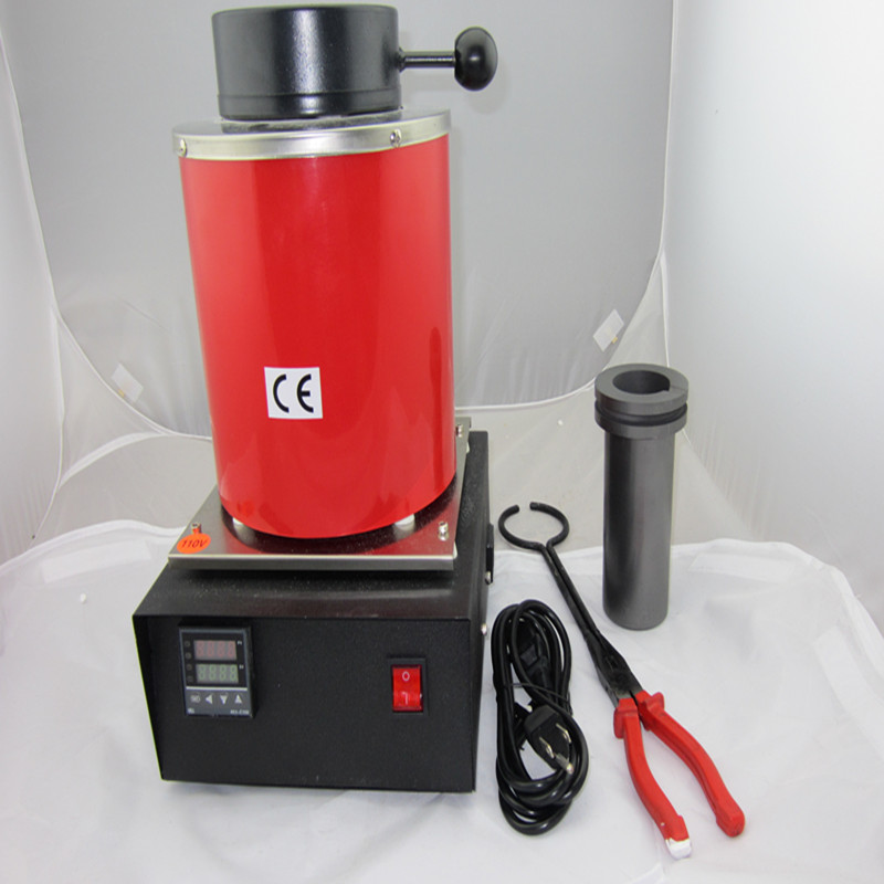 110/220v ~2kg gold, copper, silver aluminum iron steel induction melting furnace,jewelry ...