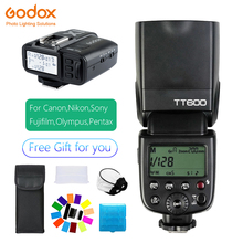 Godox TT600 Wireless Camera 2.4G Flash Speedlite + X1T-C/N/F Transmitter Wireless Flash Trigger for Canon Nikon Fujifilm Olympus new meike mk mt24 wireless dual flash speedlite trigger macro photography for nikon camera dual flash speedlite trigger
