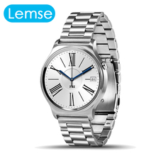 Totalmente redondeada gw01 smart watch mtk2502 bluetooth monitor de ritmo cardíaco de acero inoxidable 20mm smartwatch para android ios teléfono
