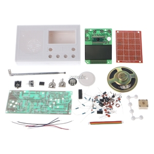Image 4 - DIY LCD FM radyo seti elektronik eğitim öğrenme paketi frekans aralığı 72 108.6MHz toptan ve Dropship