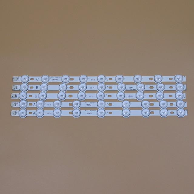 LED TV barlar PHILIPS 40PFL3008H 12 40PFL3008K/12 40PFL3028H/12 40PFL3018H/12 LED arka şerit kiti 9LED lambaları lens 5 bantları