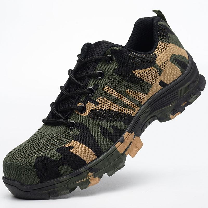 Chaussures 1 Casual Randonnée Sécurité Bottes Protection Multifonction Respirant Sneakers Orteil Hommes En Travaillent Les Acier Travail 3 De 2 HafExn