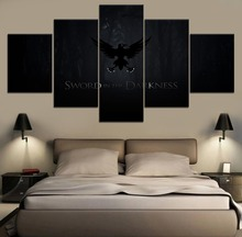 5 Pieces Canvas Printing Game of thrones Movie Poster Modern Living Room Home Decor Wall Artwork Type Pictures