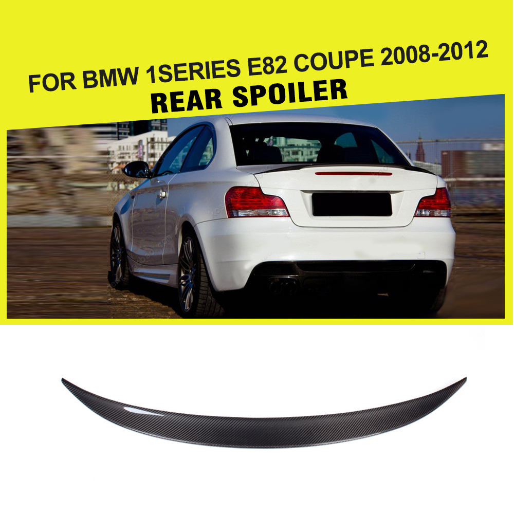 Car styling carbon fiber auto rear spoiler wing for bmw 1series 128i e82 coupe 2008 2012