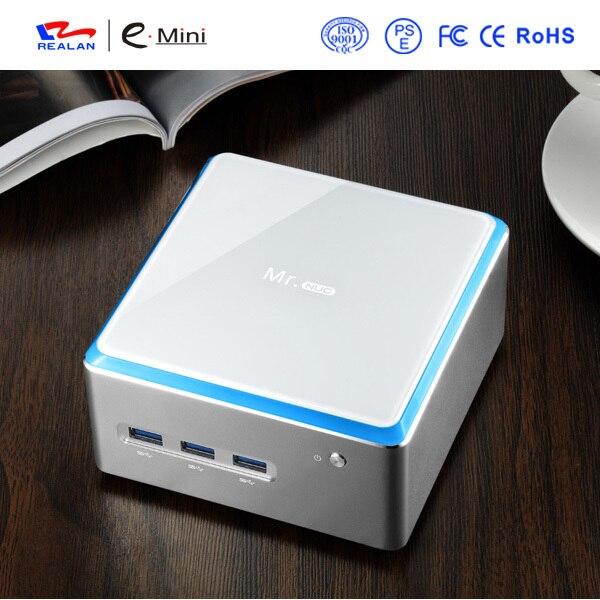 Mini PC Windows 3 Years Warranty Barebone PC Micro Computer Intel quad core 4K HD HTPC TV Box DHL Free Shipping
