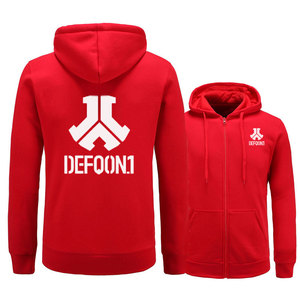 Image 2 - 2017 New Defqon 1 Rock Band Hip Hop Men Hoodies Sweatshirts Winter Autumn Zipper Fleece Casual Jackets Hoodie male clothing