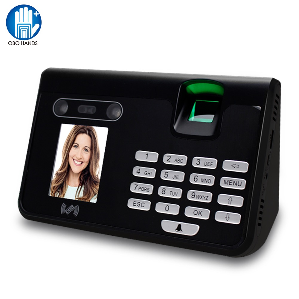 Face Recognition Attendance Fingerprint Time Attendance Machine Password RFID Card Identify for Office Employee Time Lock System biometric face and fingerprint access controller tcp ip zk multibio700 facial time attendance and door security control system