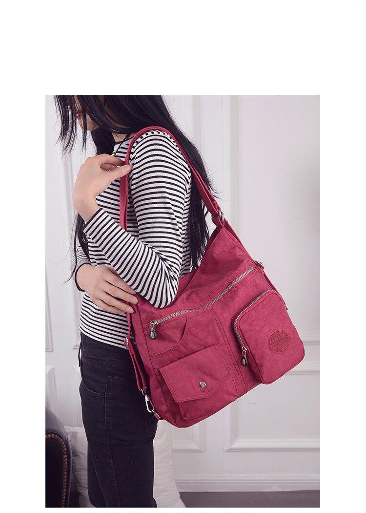 HTB1g4c3bdfvK1RjSspoq6zfNpXaD Nylon Women Backpack Natural School Bags for Teenager Casual Female Preppy Style Shoulder Bags Mochila Travel Bookbag Knapsack