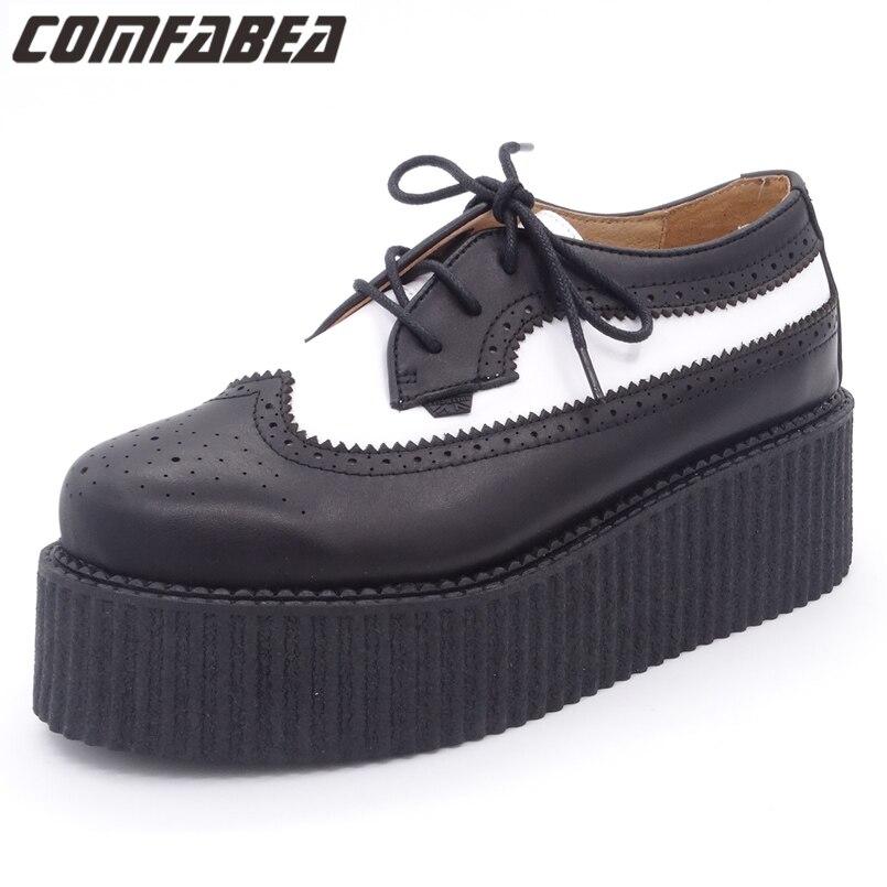 2017 Autumn Shoes Men Casual Shoe Genuine Leather Men's Oxfords Shoes For Man Flats Harajuku Creepers Platform Shoes Male