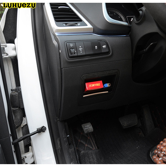 Luhuezu ABS Car Fuse Box Cover For Hyundai Tucson 2015 2016 2017 Accessories aliexpress com buy luhuezu abs car fuse box cover for hyundai fuse box cover for 1996 geo tracker at soozxer.org
