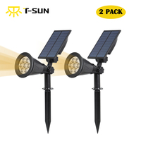 Solar Powered Garden Spotlight Outdoor Spot Light For Walkways Landscaping Ground Or Wall Mount Options 3000K