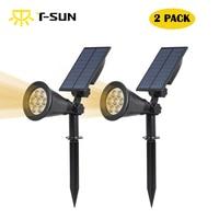 Solar Powered Garden Spotlight Outdoor Spot Light For Walkways Landscaping Ground Or Wall Mount Options 3000K