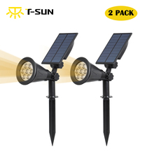 2 PACK Solar Powered Garden Spotlight