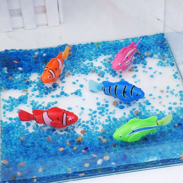 5 Colors Robofish Activated Battery Powered Robot Fish Toy Fish