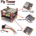 FlyTower Integrated Transmitter w/ OSD F3 flight controller w/ 4 in 1 ESC BLHeli Board Supports Oneshort125 PDB FPV QAV-X Drone