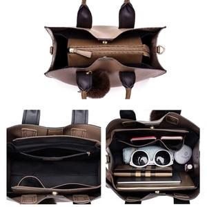 Image 5 - Miyaco กระเป๋าถือสตรี Totes กระเป๋าหนังผู้หญิงกระเป๋าและกระเป๋าถือหญิงกระเป๋า FUR Ball Tassel Messenger กระเป๋า