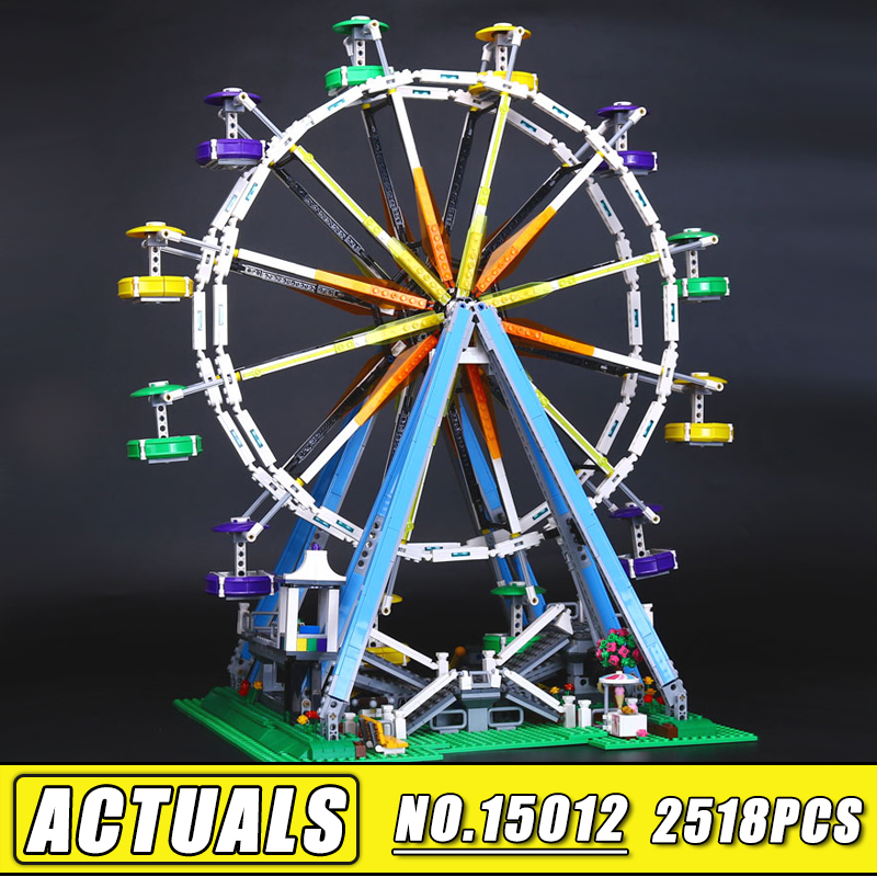Bei Fen 15012 Lepin City Expert Ferris Wheel Model Building Assembling Blocks Bricks Compatible with 10247 Educational kids Toy lepin 15009 city street pet shop model building kid blocks bricks assembling toys compatible 10218 educational toy funny gift