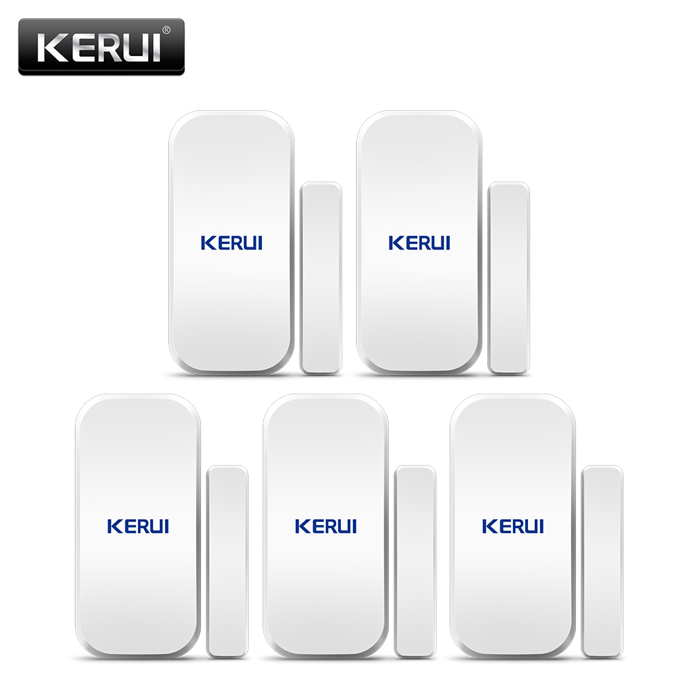 Original KERUI D025 5ps Wireless Window Door Magnet Sensor Detector For KERUI Home Wireless Alarm System forecum 433mhz wireless magnetic door window sensor alarm detector for rolling door and roller shutter home burglar alarm system