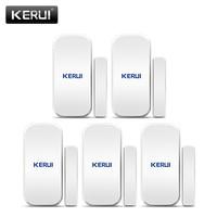 Original KERUI D025 5ps Wireless Window Door Magnet Sensor Detector For KERUI Home Wireless Alarm System
