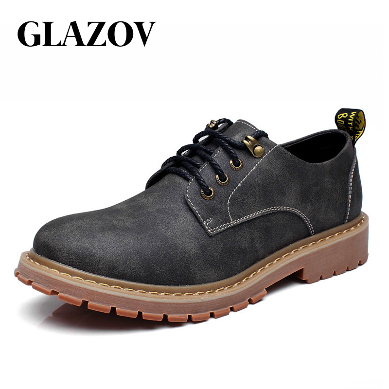 Big Size Brand Autumn Breathable Men's Oxford Shoes Top Quality Dress Shoes Men Flats Fashion Leather Casual Shoes Work Shoes
