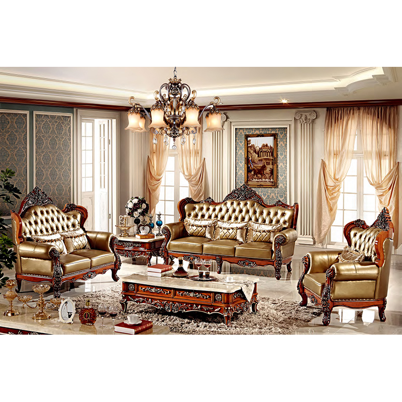US $3632.0 |foshan classical french real leather antique furniture sofa-in  Living Room Sets from Furniture on AliExpress