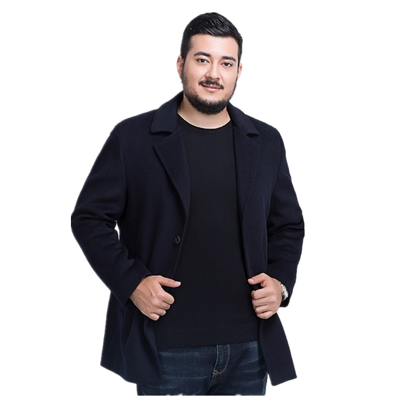 Jackets Trench-Coat Male Wool-Quality Fashion Winter Warm Thick 8XL 7XL Long Windbreak