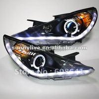 Для Hyundai Sonata YF I45 Angel Eyes LED головной лампы 2009 по 2011 год V1 Тип