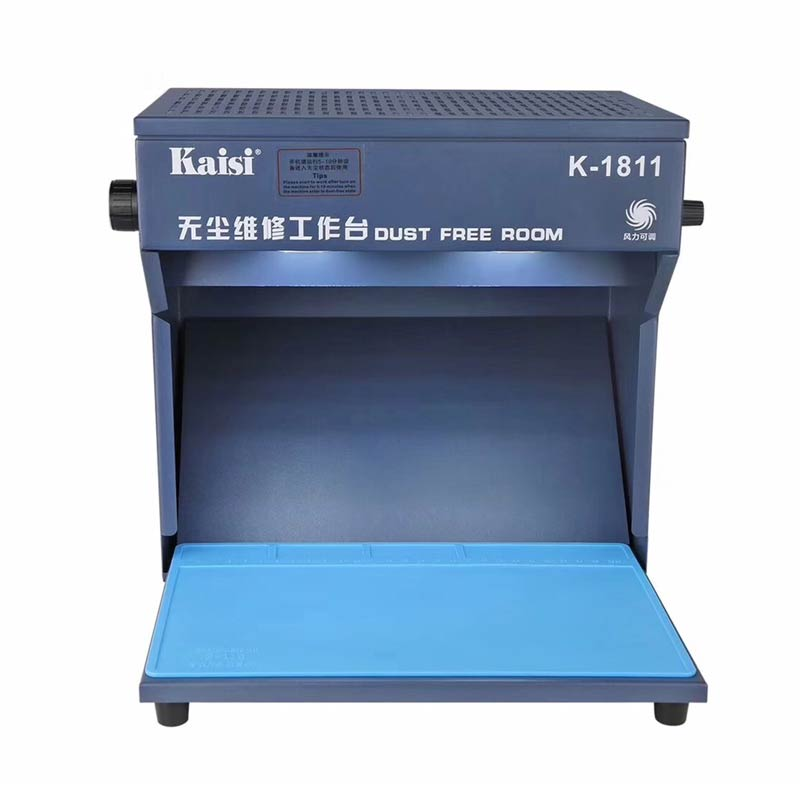 Newest Kaisi K-1811 Mini Dust Free Room Work Table Phone LCD Repair Machine Cleaning Room With Mat Tools 220V