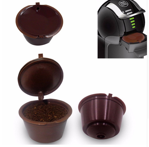 C/ápsula de caf/é c/ápsulas recargables de Dolce Gusto reutilizables con una cuchara de caf/é Compatible para Nescafe Genio Piccolo Esperta y Circolo