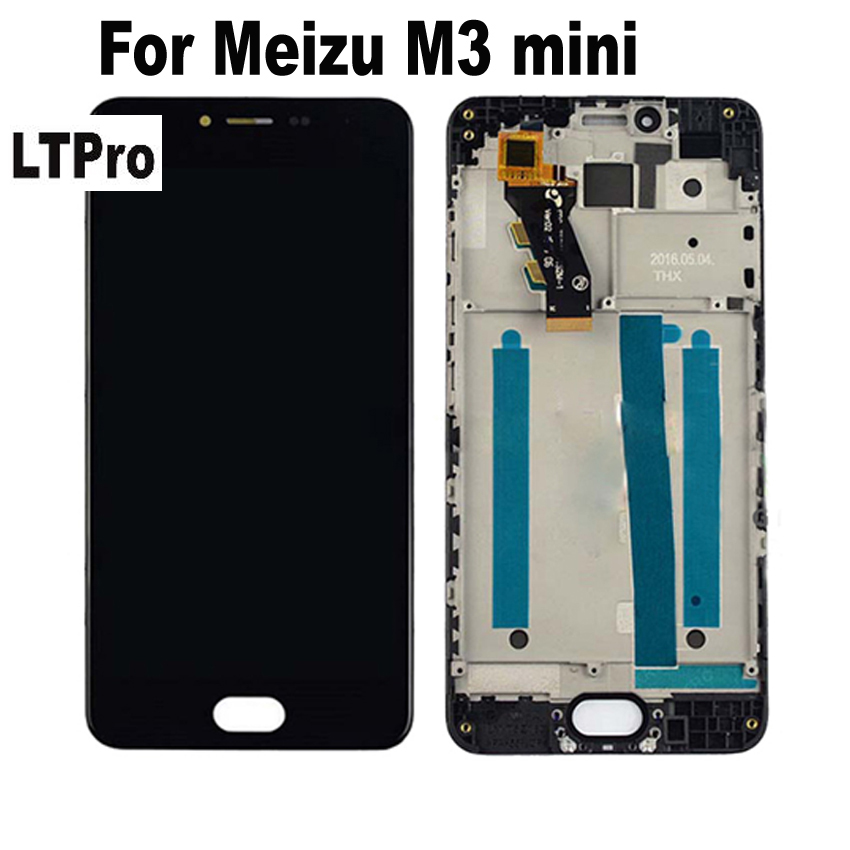 LTPro 100% Tested Working Full LCD <font><b>Display</b></font> Touch Screen Digitizer Assembly with frame For <font><b>Meizu</b></font> <font><b>M3</b></font> <font><b>mini</b></font> meilan 3 M688U/M parts image
