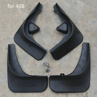 -Car covers Guards Mud Flaps Lamas Fenders Para Peugeot 408 2009-2013 4 PÇS/SET Car styling