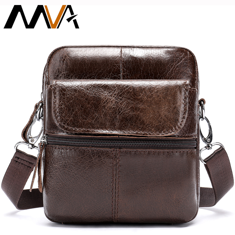 MVA Messenger Men's Shoulder Bag For Men Small Male Bags Men's Crossbody Bag Genuine Leather Shoulder Bags For Men Handbag 8628