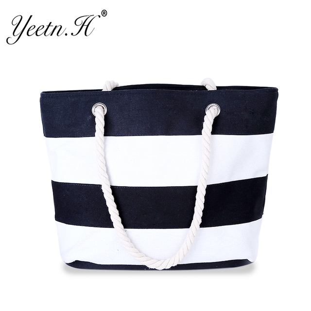 Quality Women's Top-Handle Bag Canvas Handbags Fashion Large Beach Bags Shoulder Bag