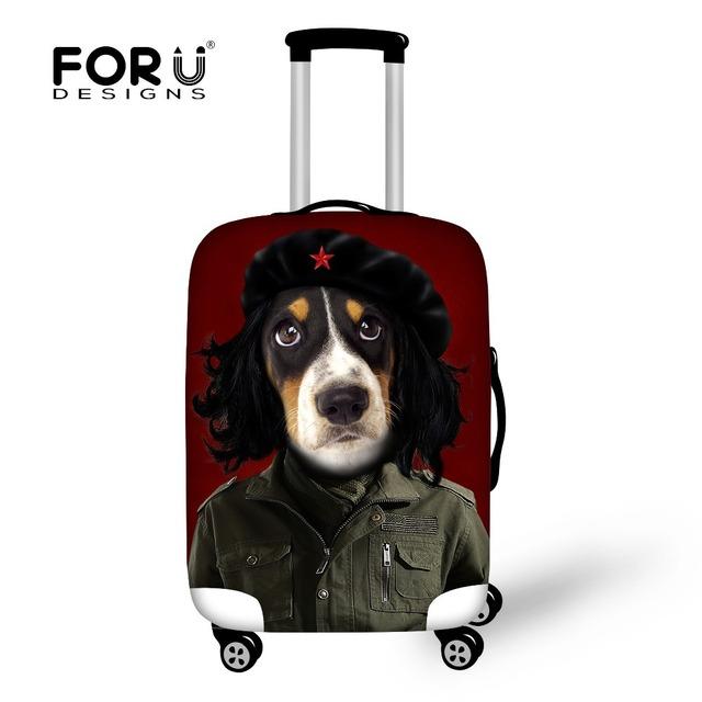 Marca Cópia Do Cão Saco de Viagem Bagagem Tampas De Proteção Contra Poeira Animal Elástico Capa Aplicar Para 18-30 polegada de Bagagem Mala acessórios