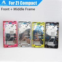 Dower Me Replacement LCD Front Frame Metal Middle Frame With Dust Plug For Sony Xperia Z1