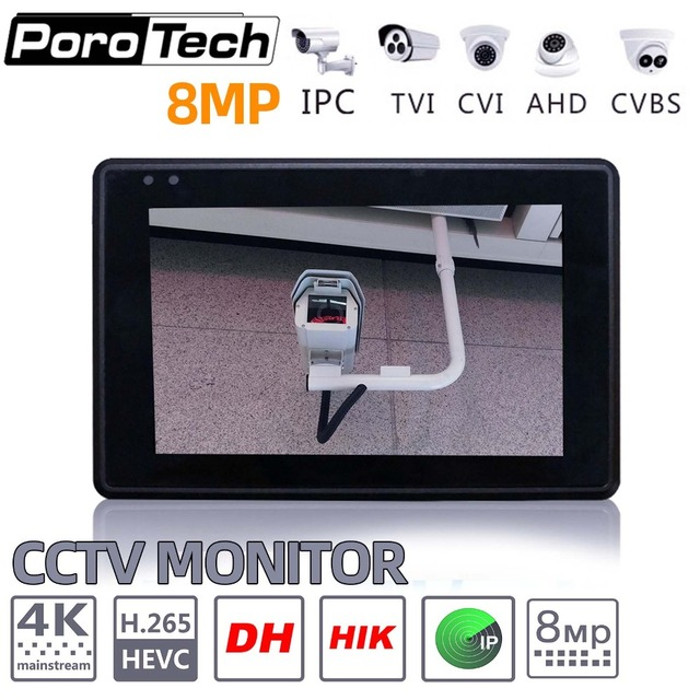 """IPC1800 plus 4"""" IP Camera Tester monitor CCTV TVI CVBS Analog Video Test PTZ Control Touch Screen H.265 4K 8MP 1080P with WIFI"""