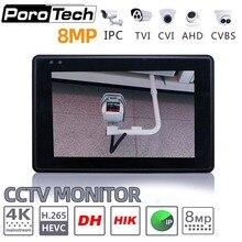 IPC1800 plus 4 «IP caméra testeur moniteur CCTV TVI CVBS analogique vidéo Test PTZ contrôle écran tactile H.265 4 K 8MP 1080 P avec WIFI