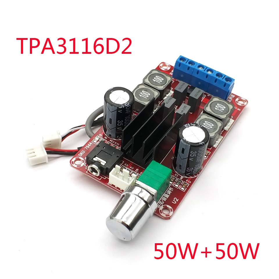 2 * 50W Digital Amplifier Board TPA3116D2 Two-channel Stereo Amplifier Board
